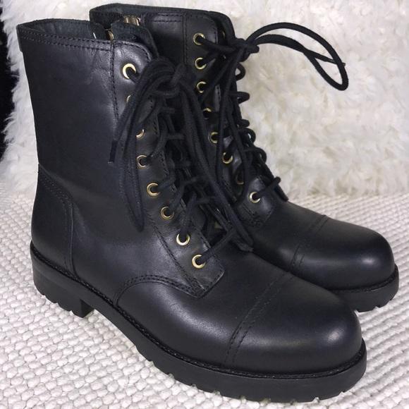 79af78f80d1 UGG Kilmer Black Lace Up Leather Zipper boot -New! NWT